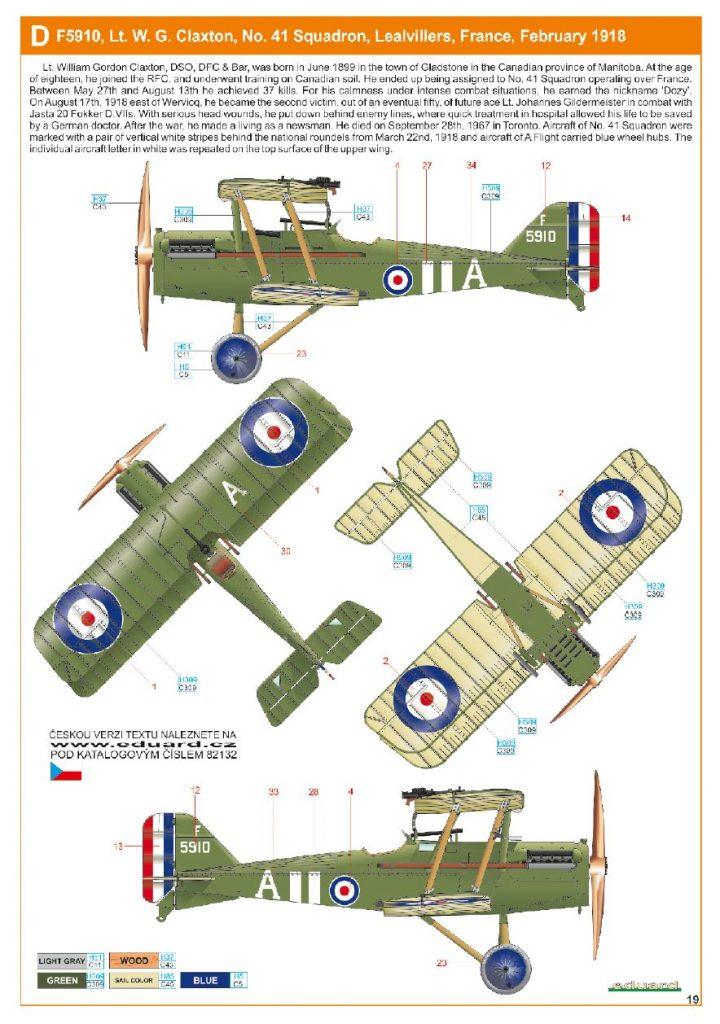 Ouvre boite : le RAF SE 5a Hispano Suiza et Woseley Viper - Eduard - 1/48ème. Eduard12