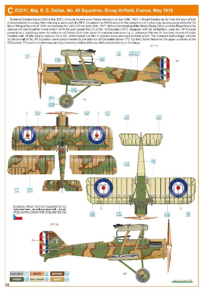 Ouvre boite : le RAF SE 5a Hispano Suiza et Woseley Viper - Eduard - 1/48ème. Eduard14