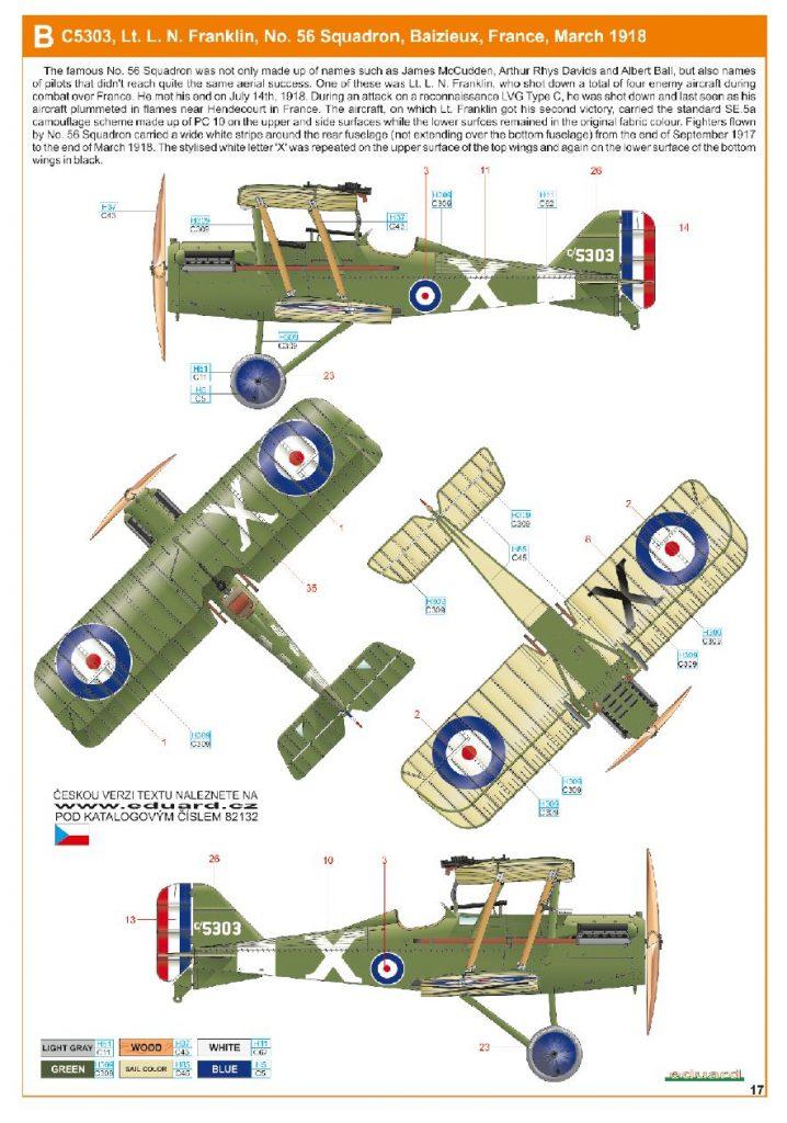 Ouvre boite : le RAF SE 5a Hispano Suiza et Woseley Viper - Eduard - 1/48ème. Eduard15
