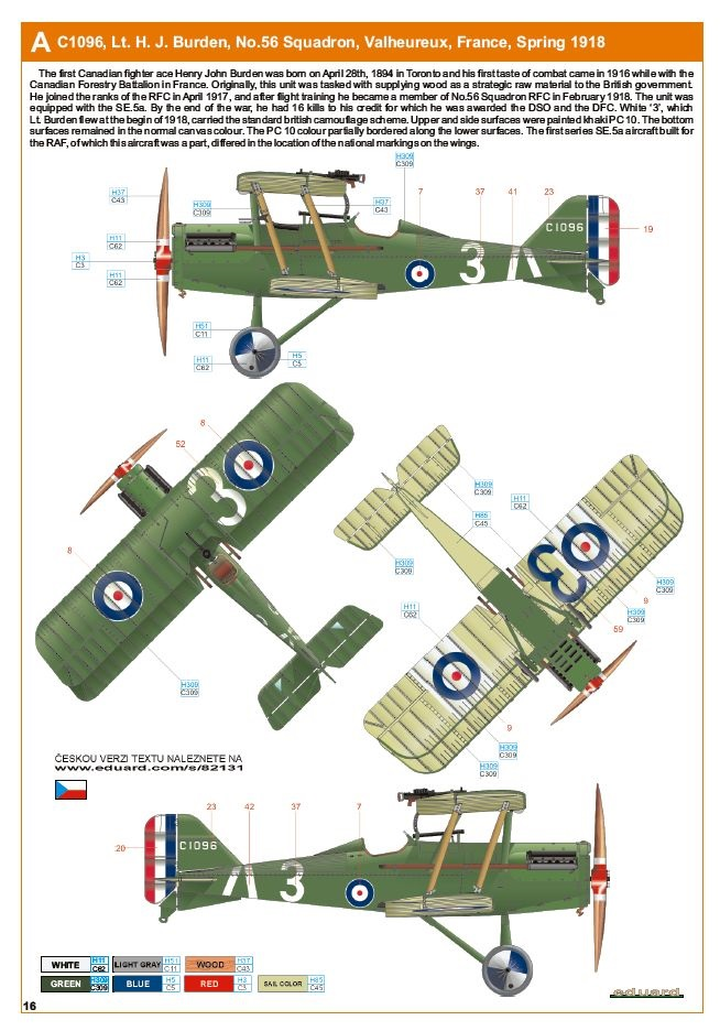 Ouvre boite : le RAF SE 5a Hispano Suiza et Woseley Viper - Eduard - 1/48ème. Eduard17