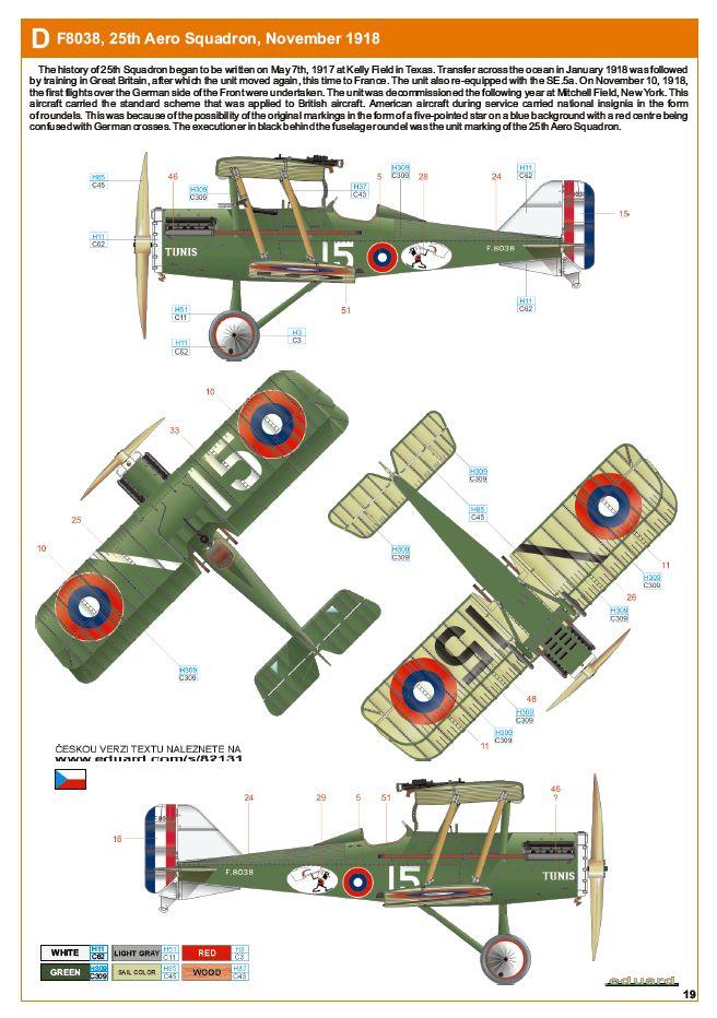 Ouvre boite : le RAF SE 5a Hispano Suiza et Woseley Viper - Eduard - 1/48ème. Eduard18