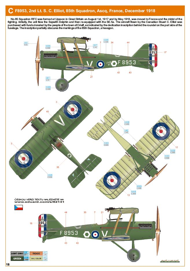 Ouvre boite : le RAF SE 5a Hispano Suiza et Woseley Viper - Eduard - 1/48ème. Eduard19