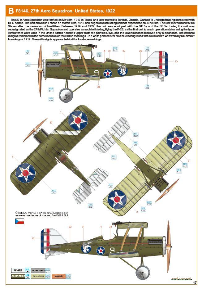 Ouvre boite : le RAF SE 5a Hispano Suiza et Woseley Viper - Eduard - 1/48ème. Eduard20