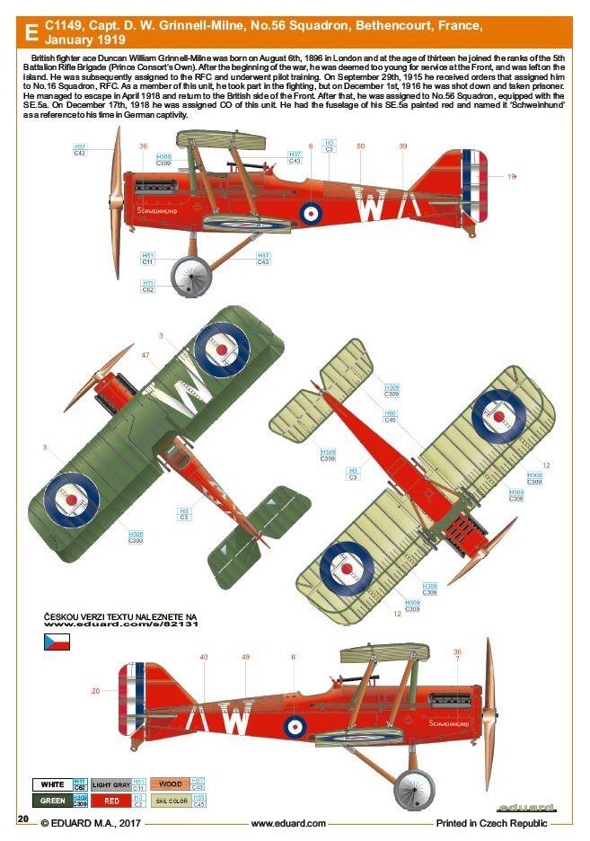 Ouvre boite : le RAF SE 5a Hispano Suiza et Woseley Viper - Eduard - 1/48ème. Eduard21