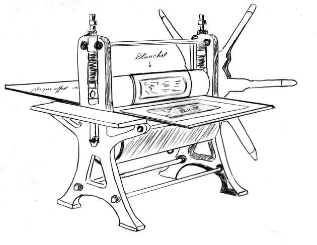 impression lithographique sur presse taille douce Presse10