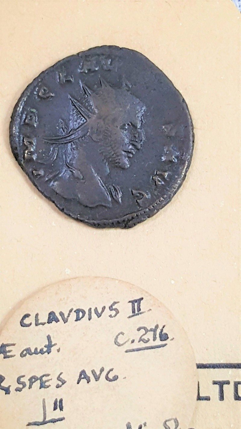 Claudius II - SPES AVG not common type bust from Siscia mint Claudi14