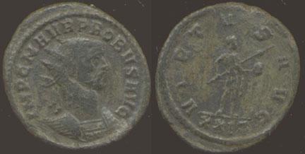 Probus or Aurelianus? An imitative antoninianus. Ric_f10