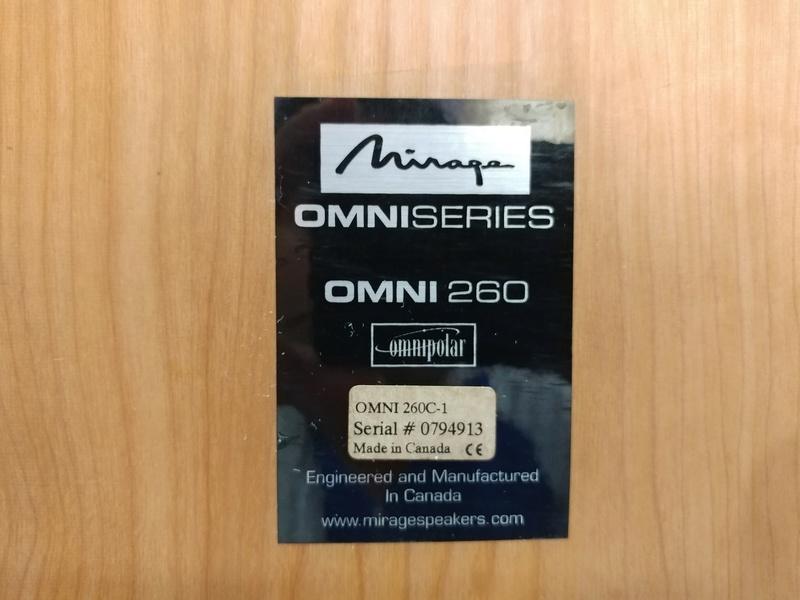 Mirage Canada OMNI 260  2.5 ways Omnipolar Floorstanding Speaker 20171223