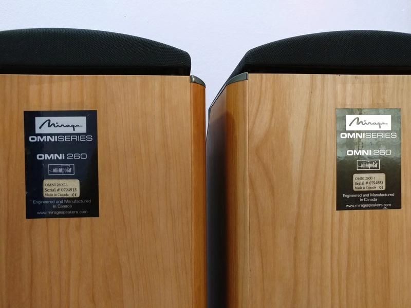 Mirage Canada OMNI 260  2.5 ways Omnipolar Floorstanding Speaker 20171225