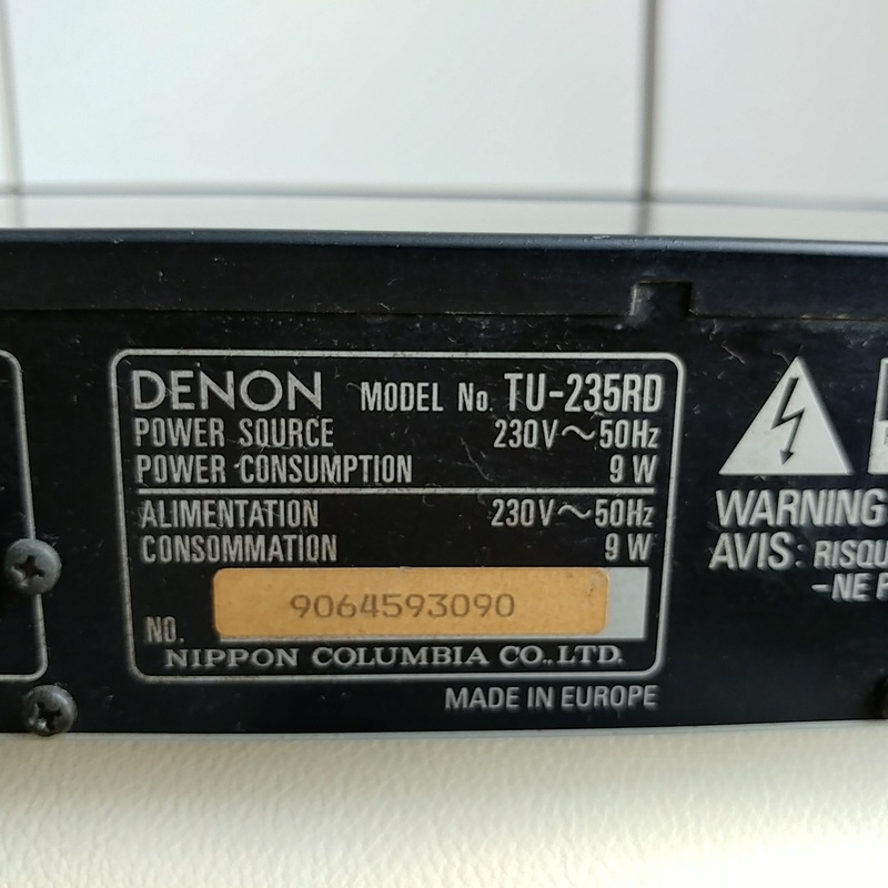 Denon TU-235RD FM Hi Fi Stereo Tuner  20180435