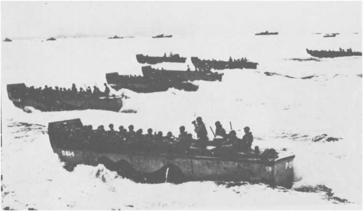 8 - Le mouillage des transports d'assaut et l'approche de la plage 311_6110
