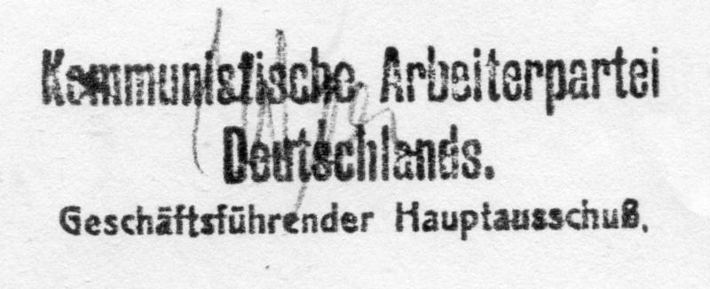 Programa del Partido Comunista Obrero de Alemania. Berlín, Enero 1924. B10