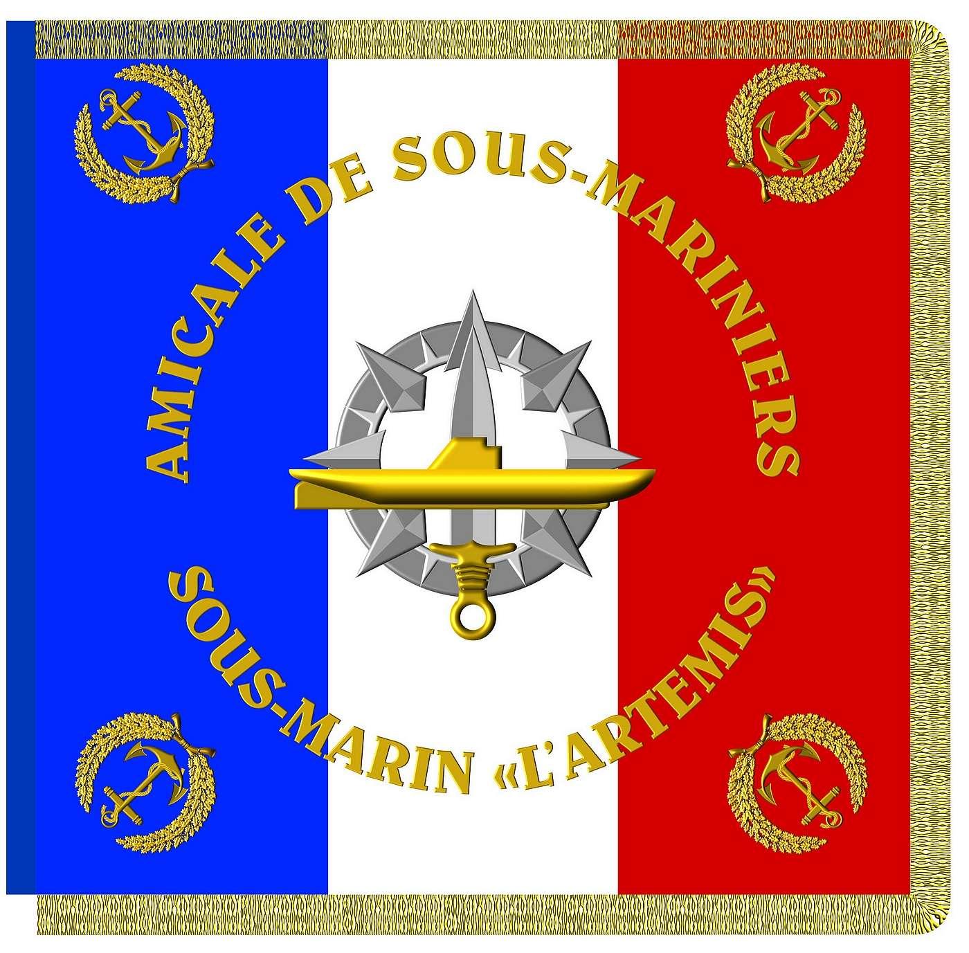[ Associations anciens Marins ] amicale du sous-marin ARTEMIS à la Réunion Drapea10
