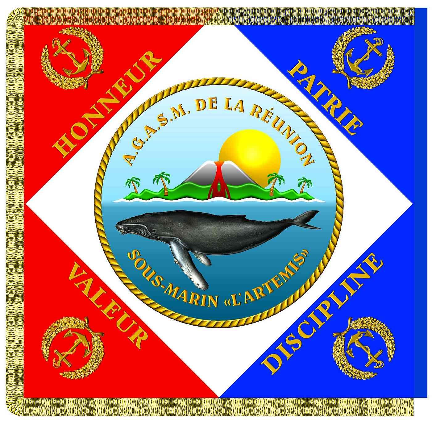 [ Associations anciens Marins ] amicale du sous-marin ARTEMIS à la Réunion Drapea11