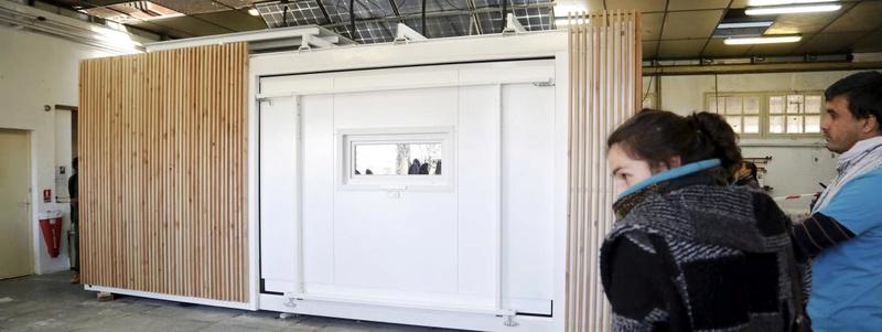 """une maison transportable conçue à Marseille permet d'avoir """"très vite un logement pour plusieurs personnes"""" 14311410"""