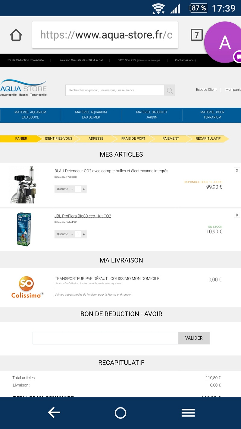 Bouteille co2 Screen10