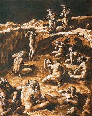 Sainte Faustine visite l'Enfer  476px-10