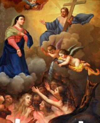 Sainte Faustine visite le Purgatoire Uuu11