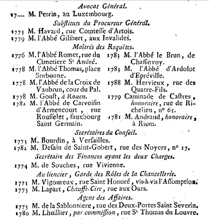Artois - 1er janvier 1789: Maison de Monseigneur le Comte d'Artois 720