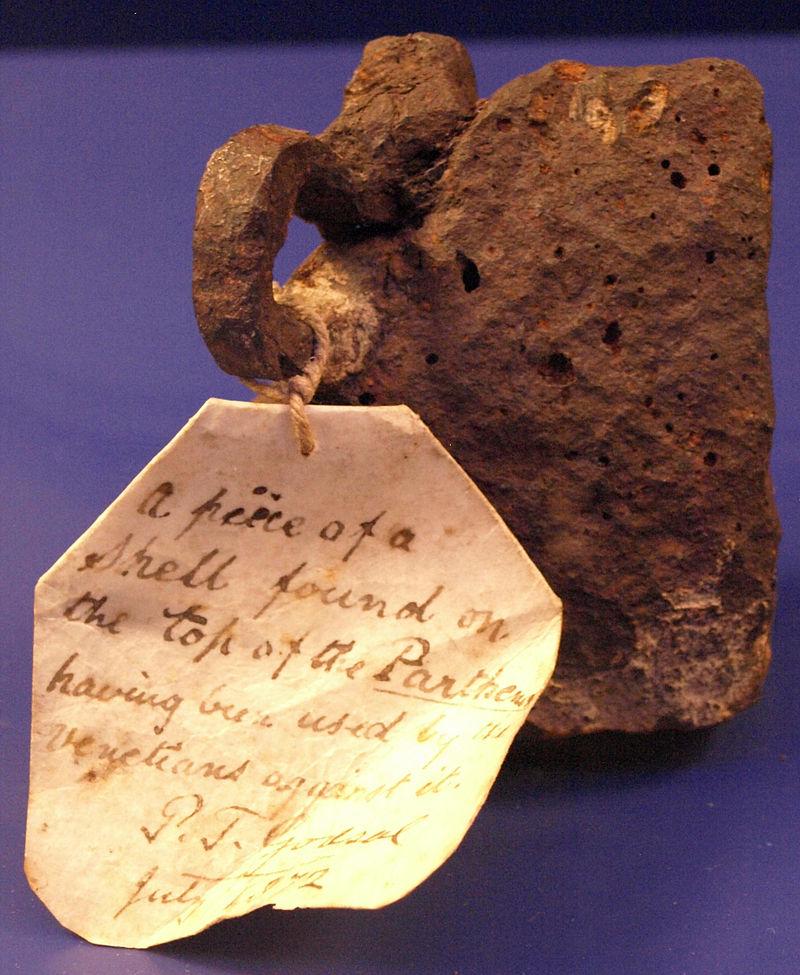 26 novembre 1687: Le Parthénon endommagé par une explosion 800px133