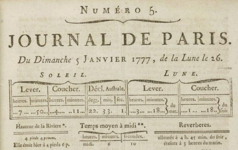 05 janvier 1777: Almanach Almana10