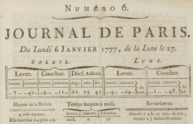 06 janvier 1777: Almanach Almana11