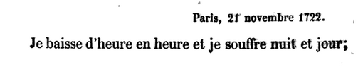 21 novembre 1722: Correspondance de La Palatine Avril42
