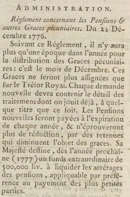 03 janvier 1777: Almanach Captu164