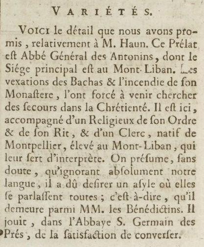 06 janvier 1777: Almanach Captu173
