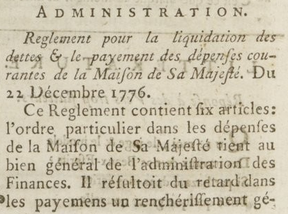 04 janvier 1777: Almanach Captu871
