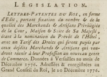 06 janvier 1777: Almanach Captu878