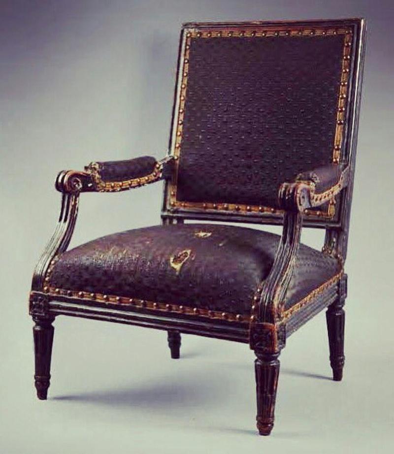 Le fauteuil de Louis XVII au Temple Doi1am10