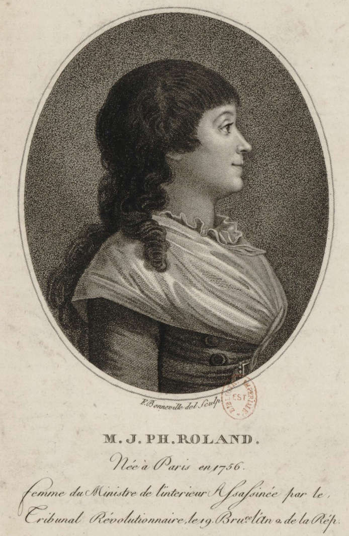 08 novembre 1793 (18 Brumaire): Exécution de Madame Roland Madame10