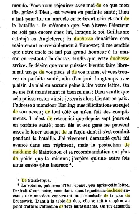 18 novembre 1687: Correspondance de La Palatine Signat45