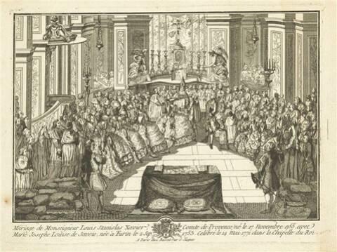 14 mai 1771: Mariage du comte de Provence avec la princesse Marie Josèphe  de Savoie