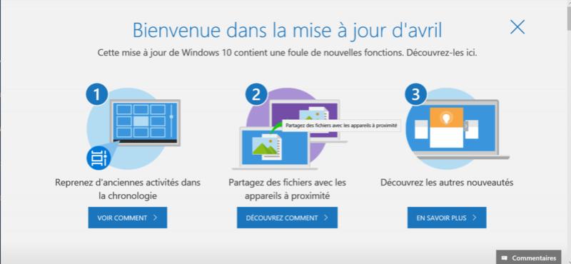 Windows 10 : l'April 2018 Update sera déployée le 30 avril  Maj110