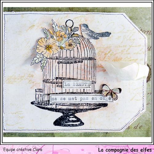 Mini album dentelles et vieux papiers par Clara. Clara174