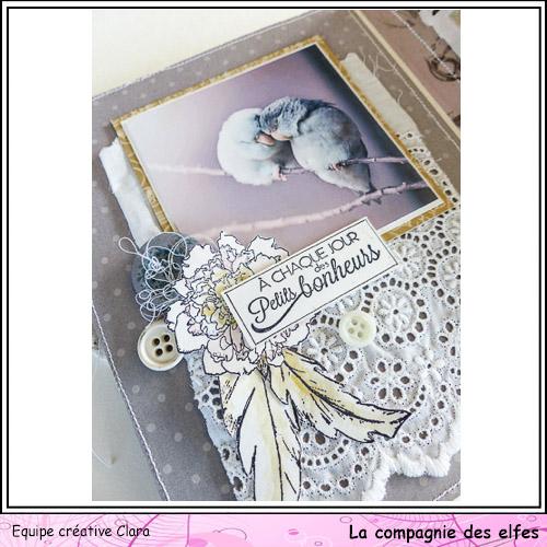 Mini album dentelles et vieux papiers par Clara. Clara177