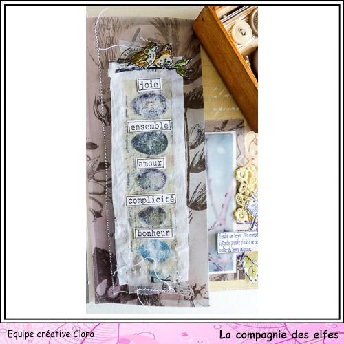 Mini album dentelles et vieux papiers par Clara. Clara178