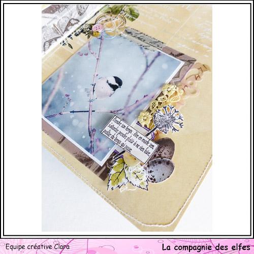 Mini album dentelles et vieux papiers par Clara. Clara179