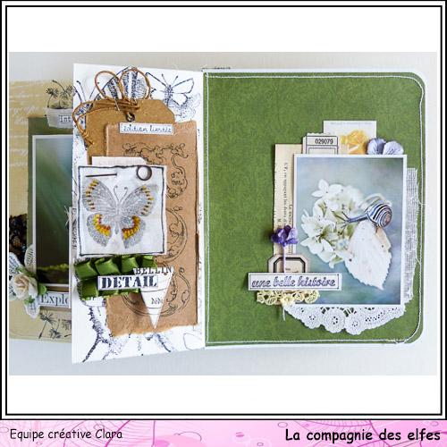 Mini album dentelles et vieux papiers par Clara. Clara184