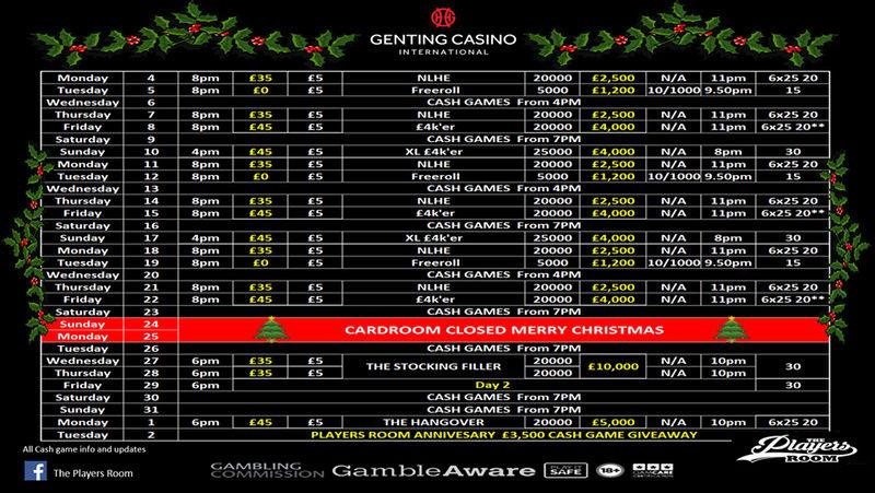 Genting Resortsworld December Schedule Gic10