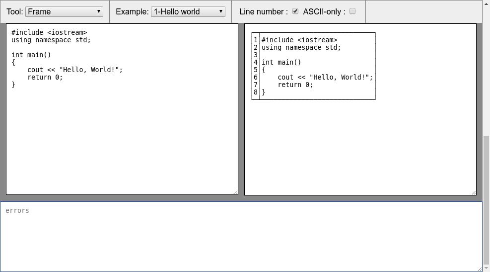 Diagon: Générateur d'ASCII art interactif. 2018-027