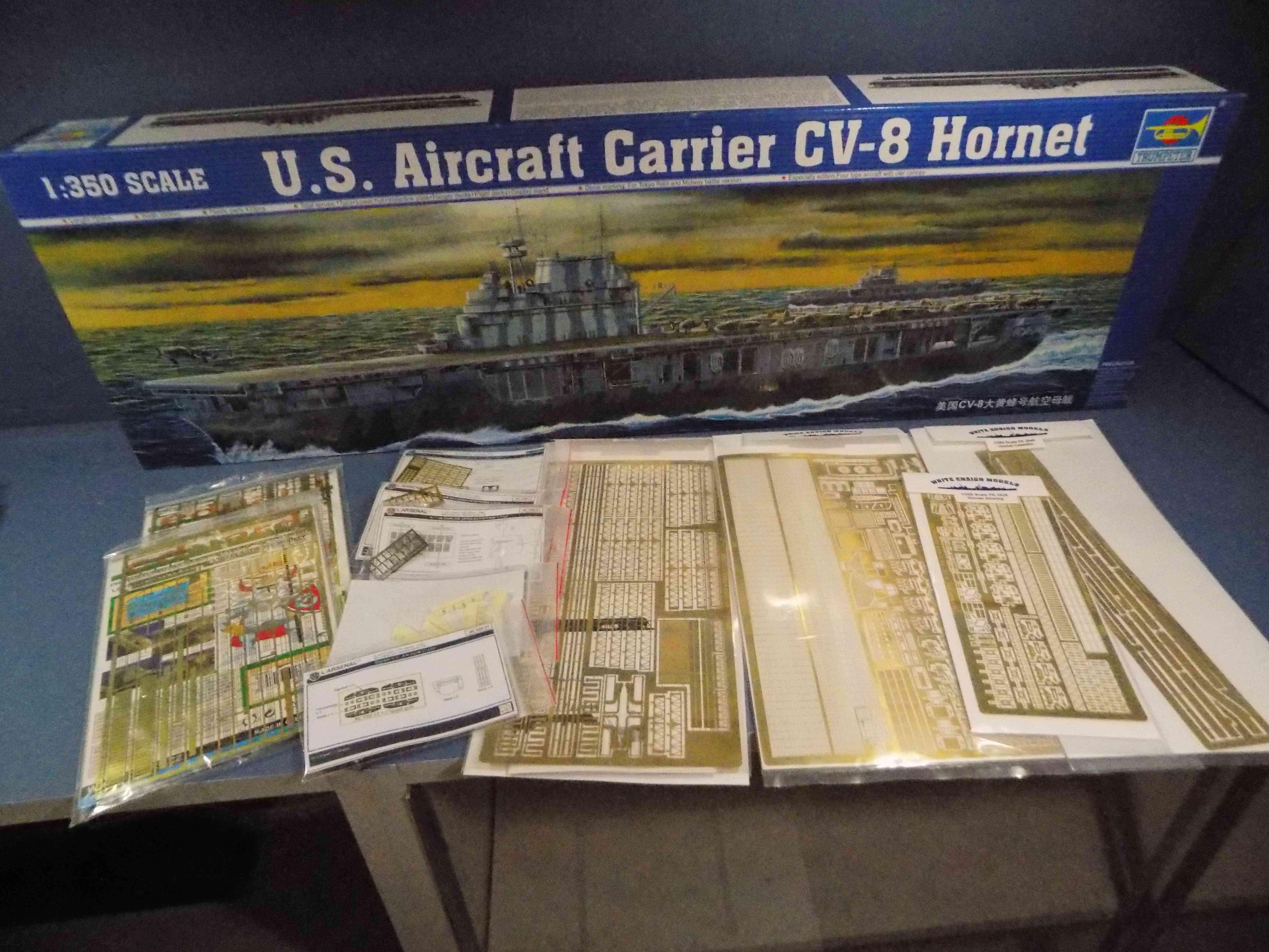 "USS HORNET CV-8 ""Raid on Tokyo"" 1/350 de Trumpeter - Page 2 Dscn1412"