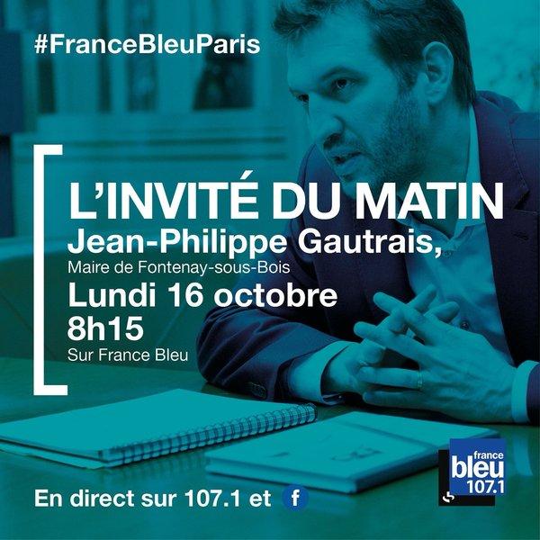 Jean-Philippe Gautrais sur France Bleue lundi 16 à 8h15 et sur Public Sénat Gautra10