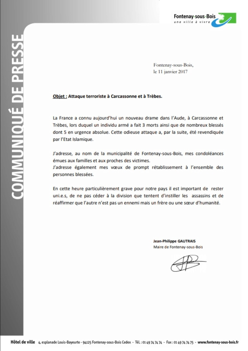 Liberté, Egalité, Fraternité - Le 13 novembre 2015 et son après - Résister face au terrorisme - Page 15 Mairie10