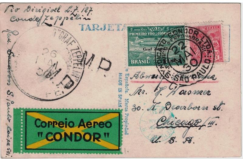 nach - Südamerikafahrt 1930, Post nach Lakehurst - Seite 4 Condor12