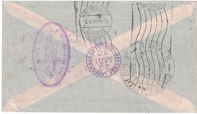 Zeppelinpost aus Brasilien Joinvi10