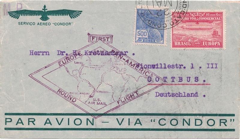 Zeppelinpost aus Brasilien Joinvi11
