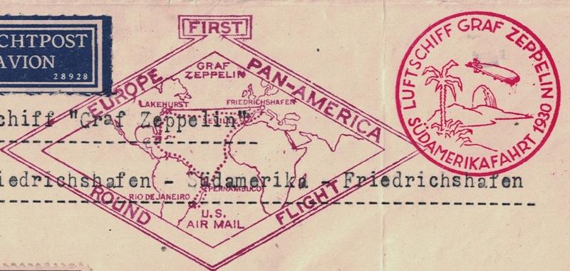 """nach - Südamerikafahrt 1930 (Rundfahrt-) Post nach Friedrichshafen"""" - Seite 7 Rhombe10"""